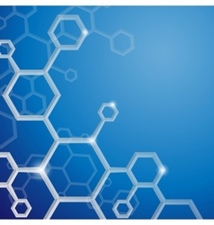 Molecule abstract background vector