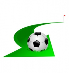 arrow with soccer ball vector image