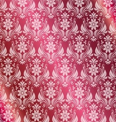Pink background with round medieval ornament vector