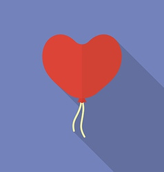 Icon of heart shaped balloon Flat style vector image