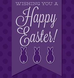 Retro style happy easter card in format vector