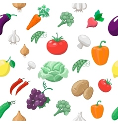 Vegetables and fruits seamless pattern radishes vector
