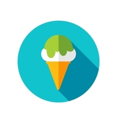 Ice cream flat icon with long shadow vector