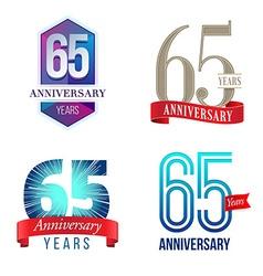 65 years anniversary symbol vector