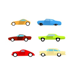 hot rod cars vector image