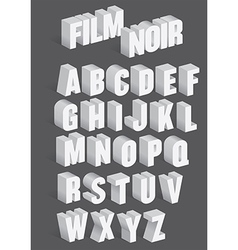 Three dimensional retro alphabet vector