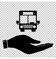 Bus sign save or protect symbol vector