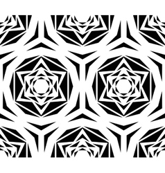 Geometric black rose tile pattern vector