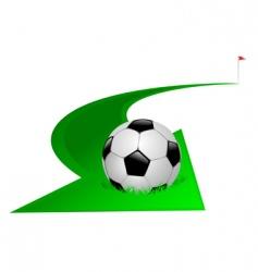 arrow with soccer ball vector image