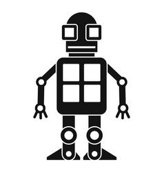 Artificial intelligence concept icon simple style vector