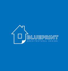 blueprint logo vector image
