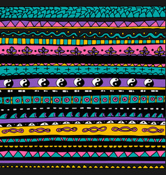 bright colourful tribal seamless pattern vector image vector image