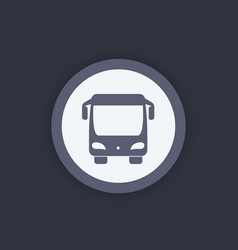 bus icon front view vector image vector image