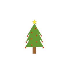 chrismast tree vector image vector image