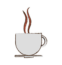 coffee cup drink hot vector image