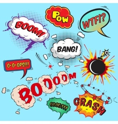 Comic speech bubbles design elements collection vector image vector image