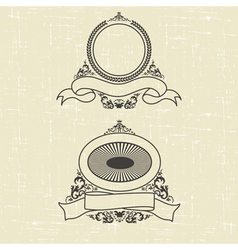 contour heraldic emblem vector image