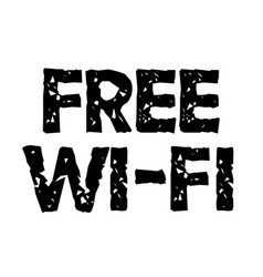 Free wi-fi stamp typographic stamp vector