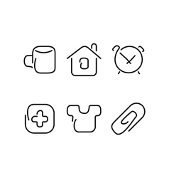 Home set icons vector
