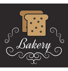 icon bakery bread slice design vector image