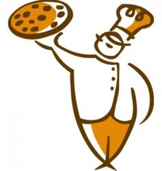 Italian pizza chef vector image vector image