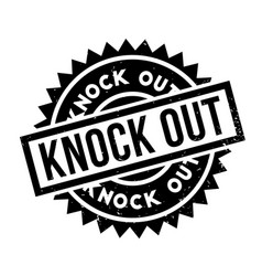 Knock out rubber stamp vector