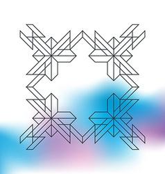 Line Geometric Hipster border for Logotype Banner vector image vector image