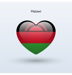 Love malawi symbol heart flag icon vector