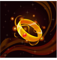 magic golden ring vector image vector image