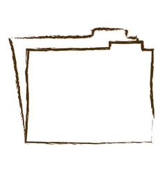 Monochrome hand drawn silhouette of folder vector
