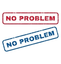 No problem rubber stamps vector