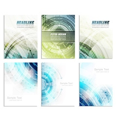 Set of abstract flyer template magazine brochure vector image vector image