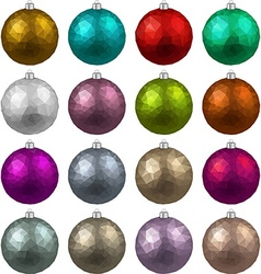 Set of textured realistic christmas balls vector image vector image