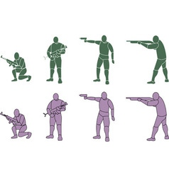 Silhouette Weapons vector image