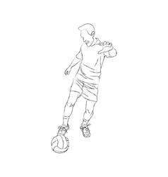 Soccer player sketch vector