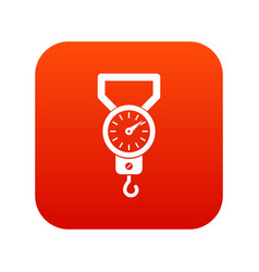 Spring scale icon digital red vector