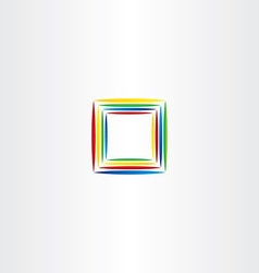 square logo colorful frame icon vector image