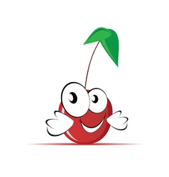 sweet and cute cherry vector image