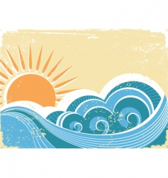Vintage waves vector