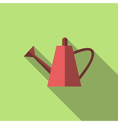 Watering can long shadow vector image