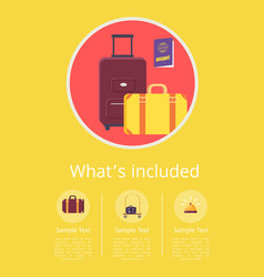 Whats included in hotel service info internet page vector