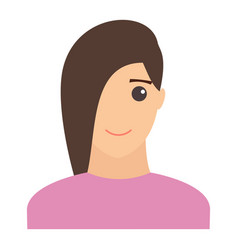 woman smiling portrait modern avatar flat design vector image
