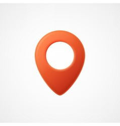 3d map pointer icon map markers vector