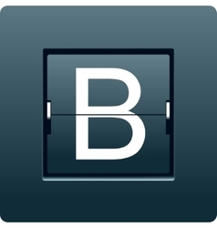 Letter B from mechanical scoreboard vector image