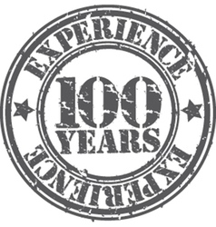 Grunge 100 years of experience rubber stamp vector