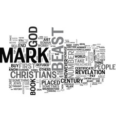 Who will receive the mark of the beast text word vector