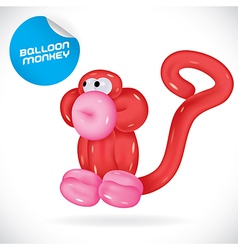 Glossy balloon monkey vector