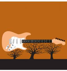 Guitar tree vector