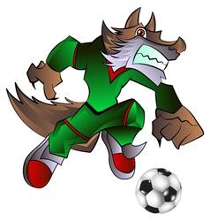 mascot playing football vector image