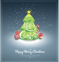 Merry christmas post card vector